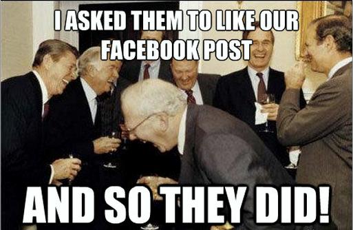 Facebook face book marketing fail meme photo