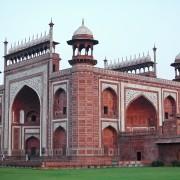 Red Gateway at Taj Mahal Agra India photo