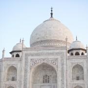 Taj Mahal Agra India dome photo