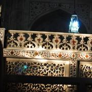 Flower ornaments carvings in mausoleum of Taj Mahal photo