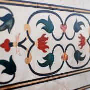 Flower ornaments at Taj Mahal Agra India photo