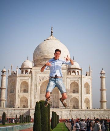 Adomas Baltagalvis at Taj Mahal, Agra, India, photo