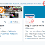 Example of spam auto-follow on Twitter