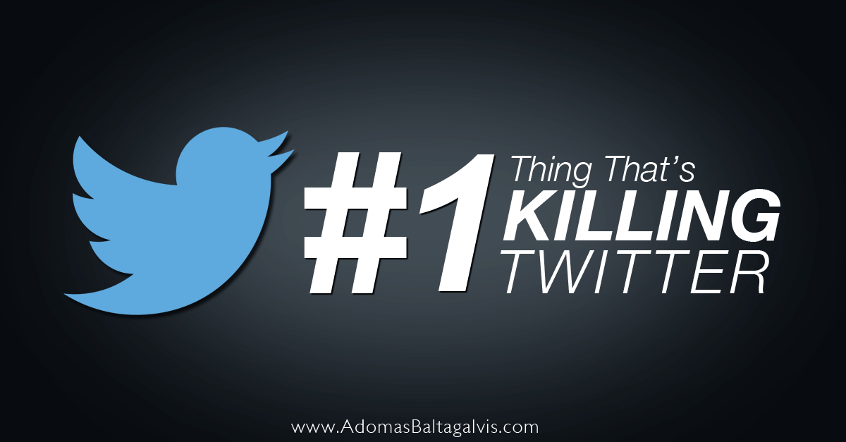 The main feature that's killing Twitter social network