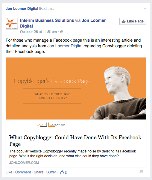 How to increase organic reach by engaging with other Facebook business pages