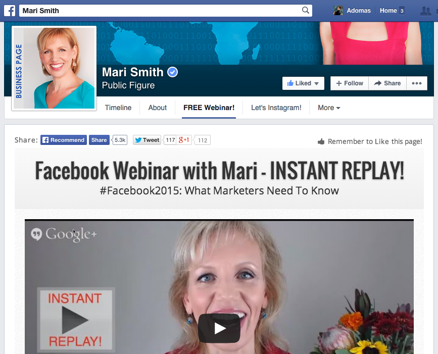 How to use a custom tab to get new Facebook page likes