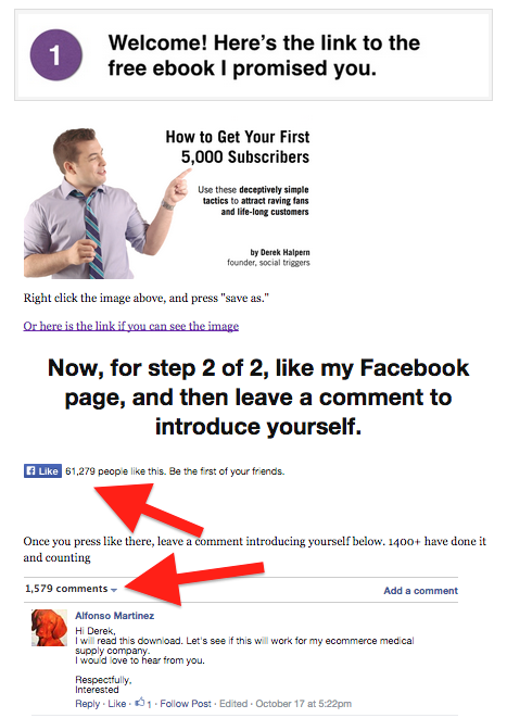 Online cross-promotion for a Facebook business page - Like Box and Facebook Comments on a Thank You page