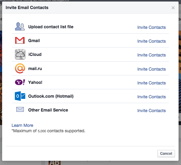 How to invite your connections to your business page by using Facebook's Import Contacts