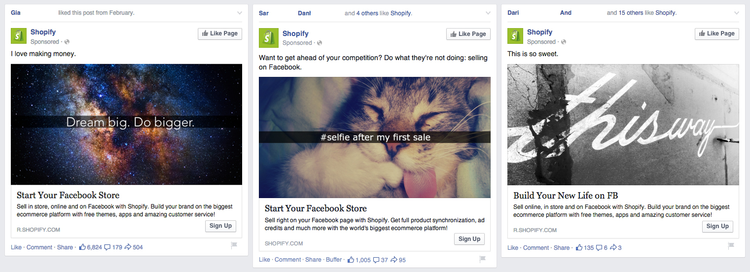 Fight Facebook ad blindness by rotating your ads, especially visuals