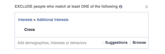 Exclude People from your Facebook ads campaign with detailed targeting