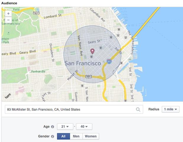 Facebook Local Awareness ads, designed for local businesses