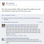 KFC Australia Facebook marketing fail.