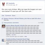 KFC Australia Facebook marketing fail.