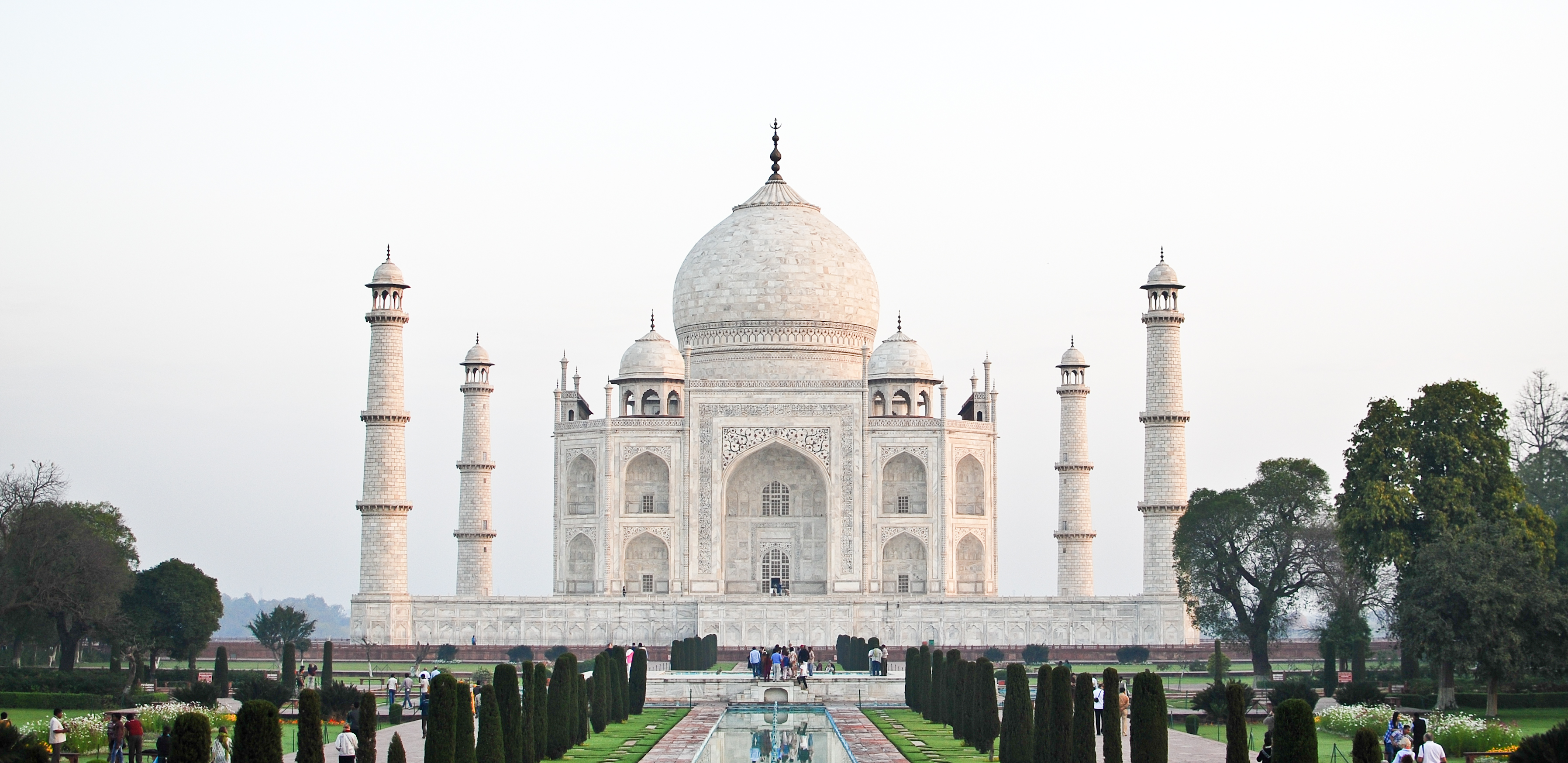 The Taj Mahal in Agra, India photo