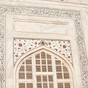 Wall ornaments of Taj Mahal Agra India photo