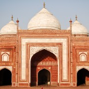 Mosque at Taj Mahal in Agra, India photo