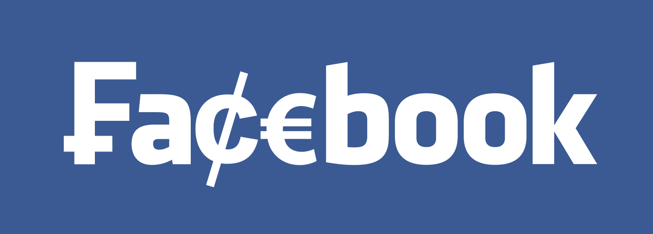 Facebook logo in currency symbols photo