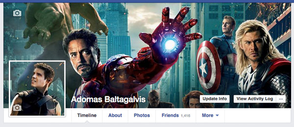 Creative Facebook cover photo and profile picture: Avengers, Iron Man, Captain America, Thor, Hulk , Hawkeye and Adomas Baltagalvis | AdomasBaltagalvis.com #Facebook #marketing