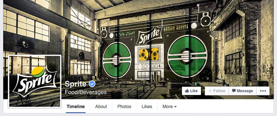 Sprite's continuous cover photo and profile picture design on their Facebook page | #Facebook #design