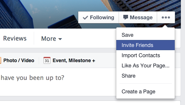 How to get more Facebook likes by using the Invite Friends feature on your business page