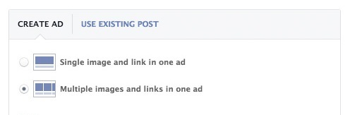 Select multiple images and links in one ad for multi-product ads