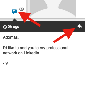 Respond to a LinkedIn invitation to connect with a personal message