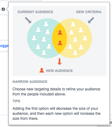 Current Audience, New Critereria, New Facebook Target Audience